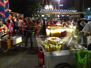 Street vendors.