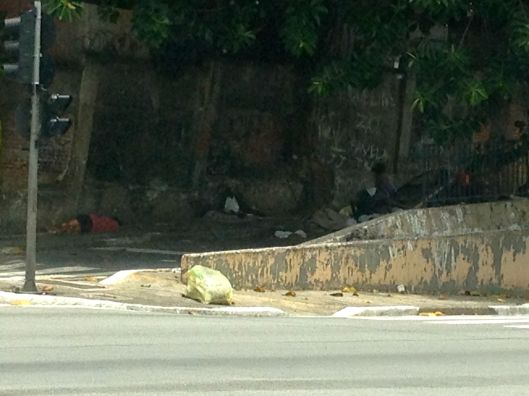 Addicts along side road off Jose Dinez.