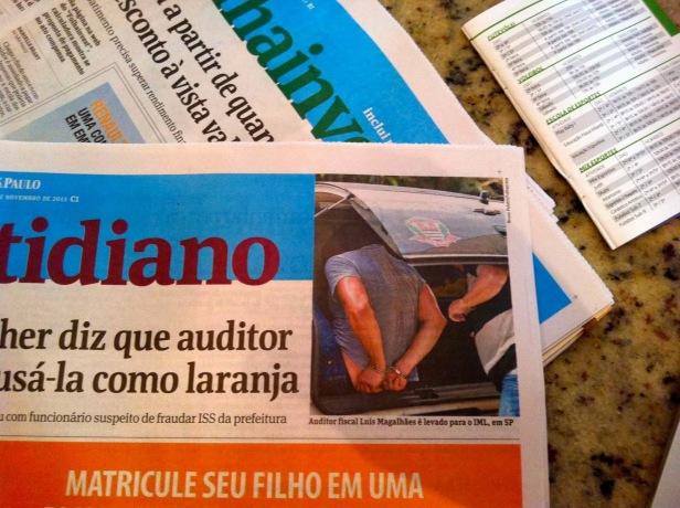Folha de São Paulo, Cotidiano, 4 November 2013