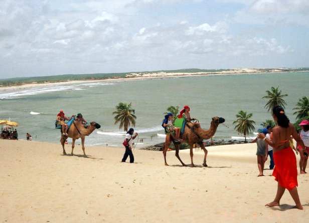 The beach at Natal, Brazil