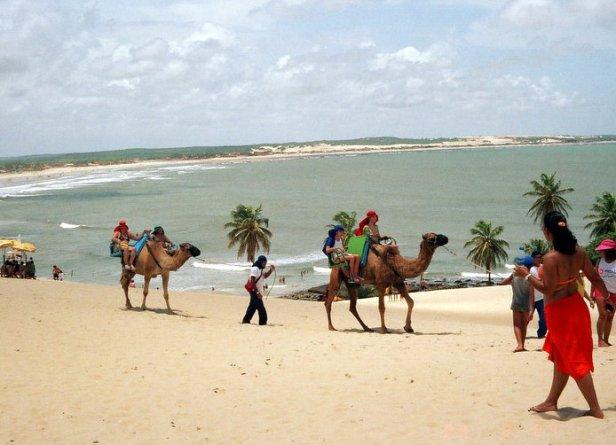 The beach at Natal, Brazil