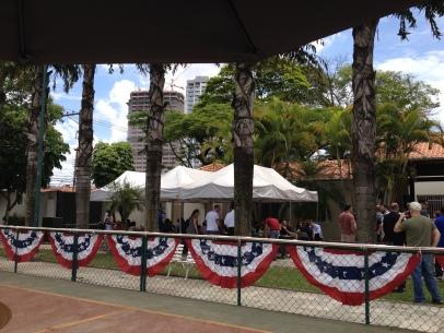 Consulate BBQ area.