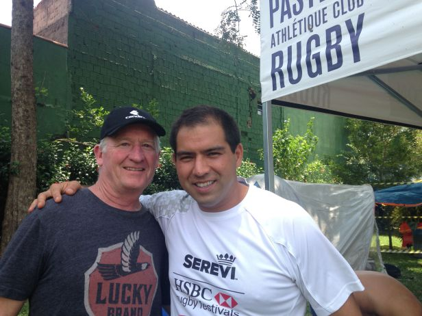 Steve (left) and Fabrizio, working together on Rugby para Todos.
